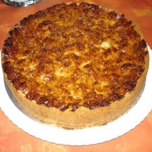 Apfel Rahm Kuchen Gebrannte Mandel