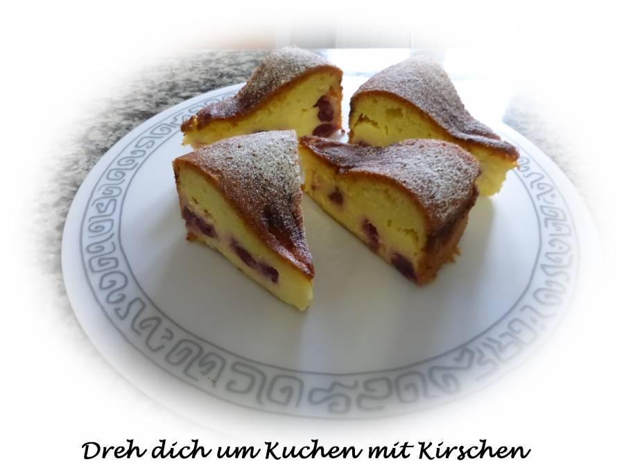 Dreh Dich Um Kuchen Mit Kirschen