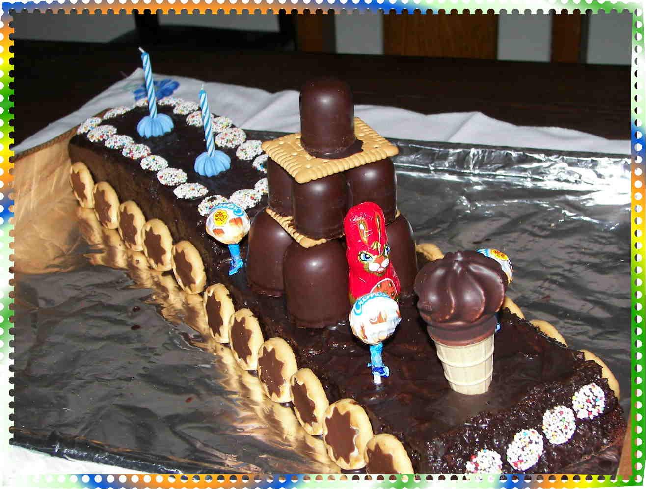 Geburtstags Kuchen Zug Schokokuchen