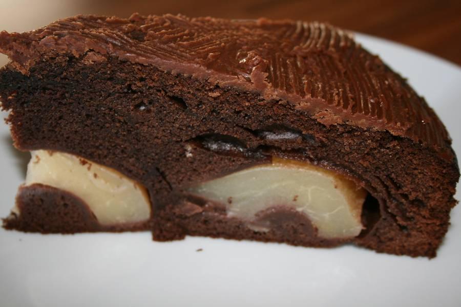 Gluhender Birnen Schoko Kuchen