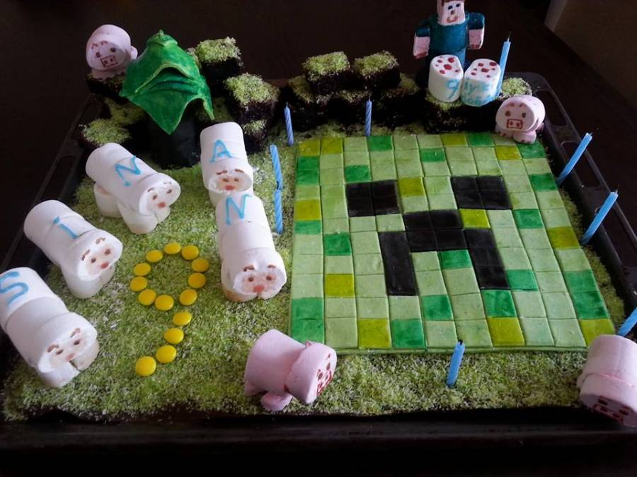 Minecraft Creeper Kuchen