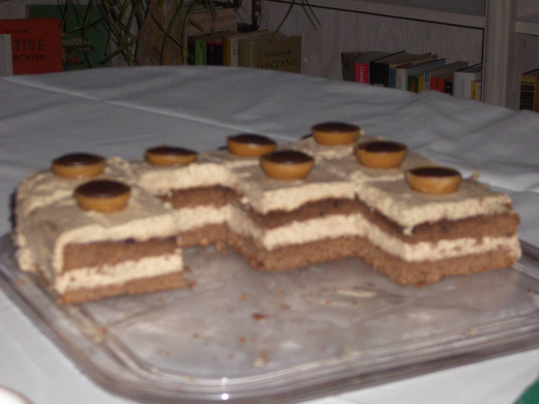 Quadratische Toffifee-Torte