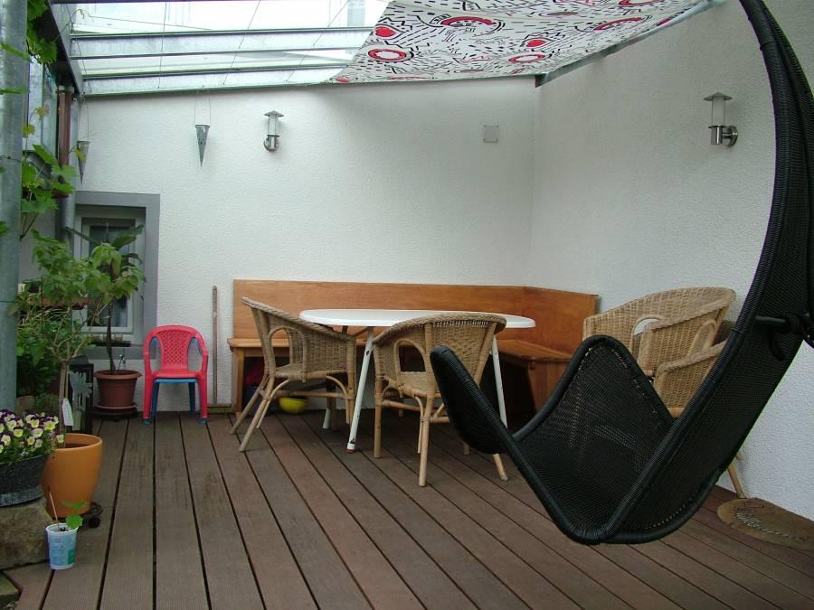 Uberdachter Sitzplatz